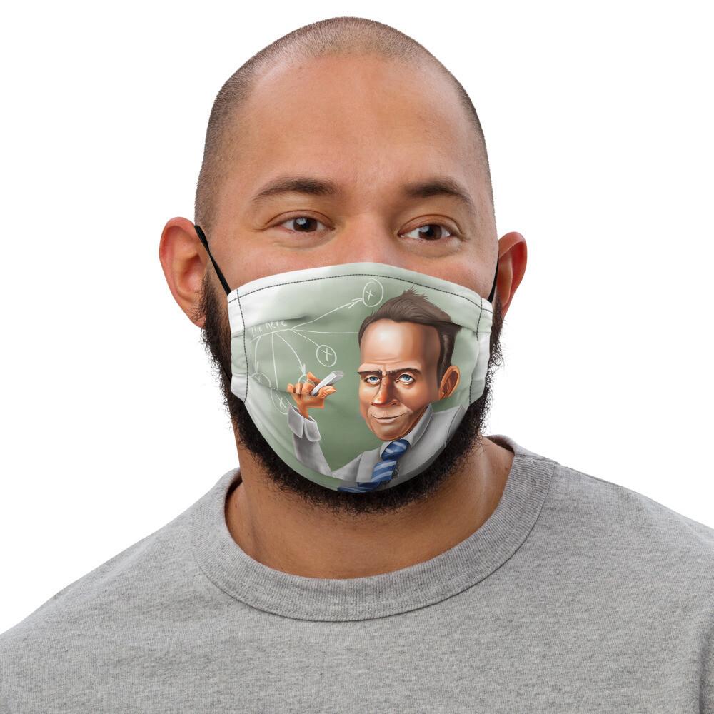 Werner Heisenberg Premium face mask