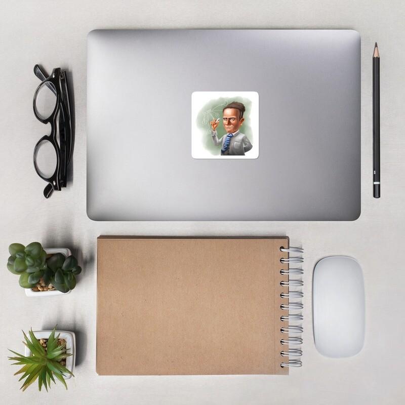 Werner Heisenberg Bubble-free stickers