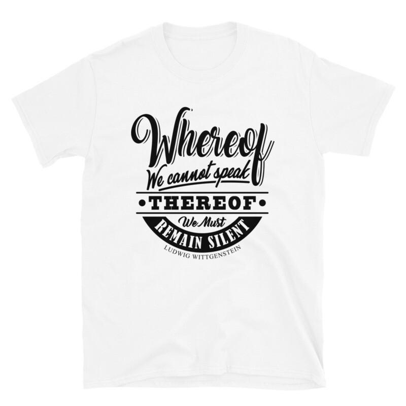 Ludwig Wittgenstein Quote Short-Sleeve Unisex T-Shirt