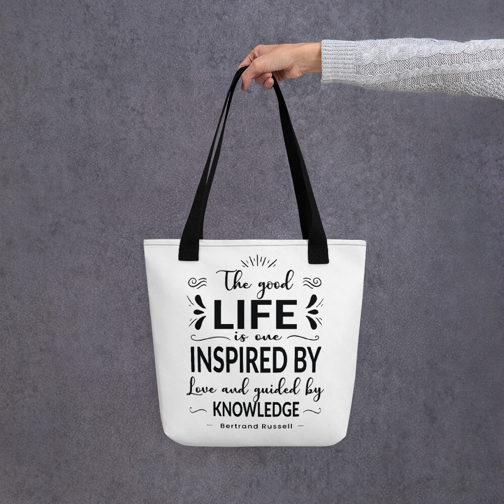 Bertrand Russell Quote Tote bag