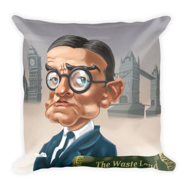 T.S. Eliot Square Pillow
