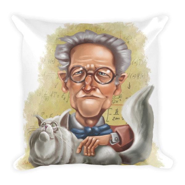 Erwin Schrödinger Square Pillow