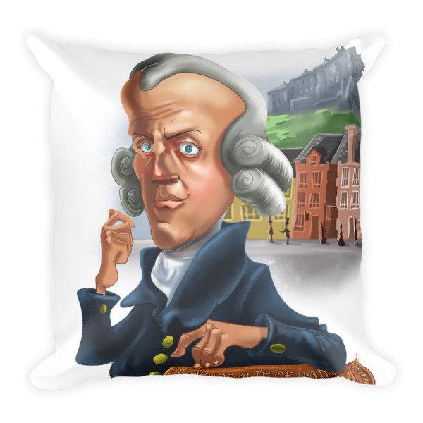 Adam Smith Square Pillow