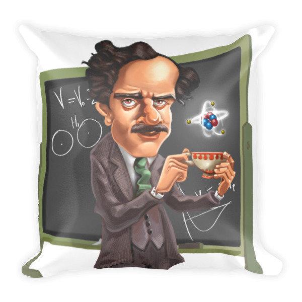 Paul Dirac Square Pillow