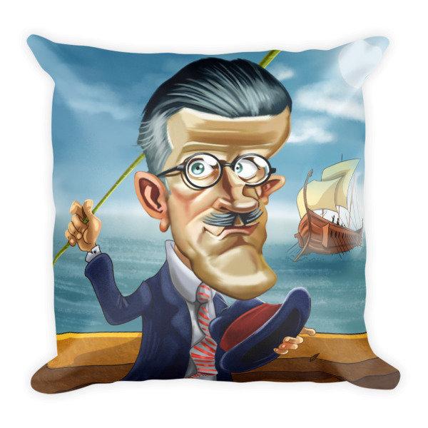 James Joyce Square Pillow