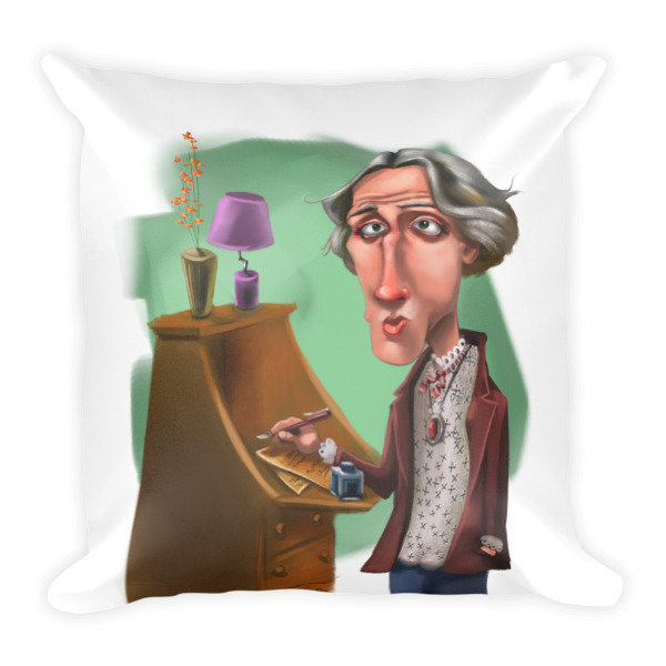 Virginia Woolf Square Pillow