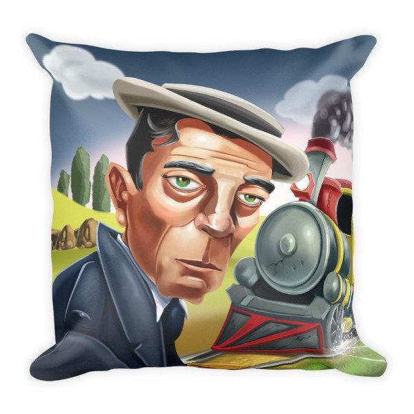 Buster Keaton Square Pillow