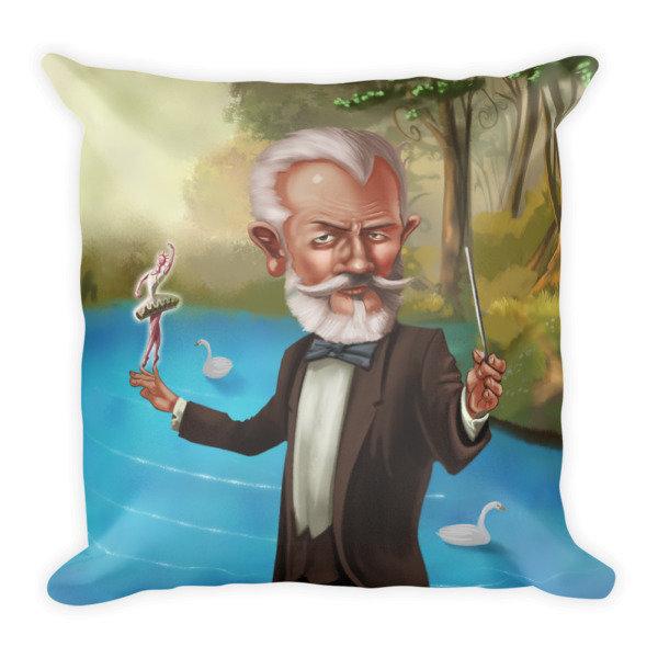 Pyotr Ilyich Tchaikovsky Square Pillow