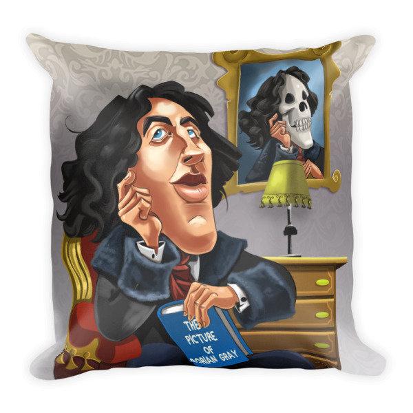 Oscar Wilde Square Pillow