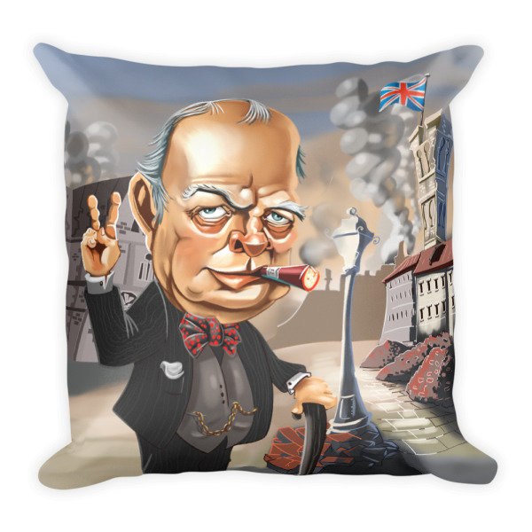 Simply Churchill Square Pillow