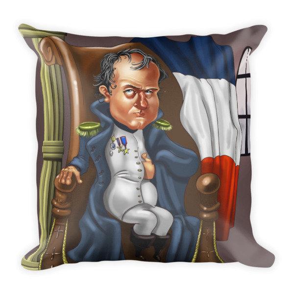 Napoleon Bonaparte Square Pillow