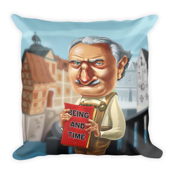 Martin Heidegger Square Pillow