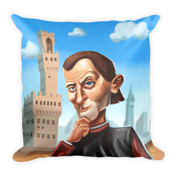 Niccolò Machiavelli Square Pillow