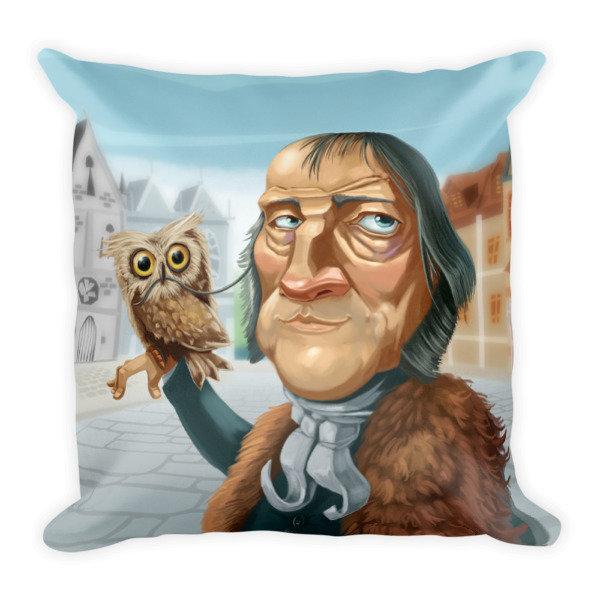 Georg Hegel Square Pillow