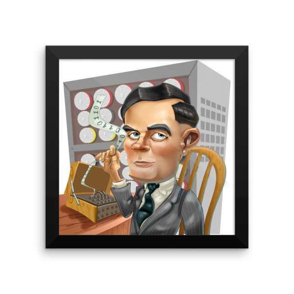 Alan Turing Framed poster