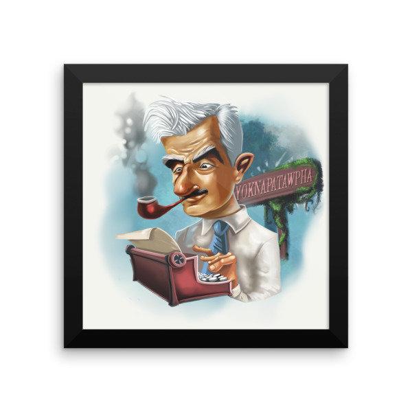 William Faulkner Framed poster