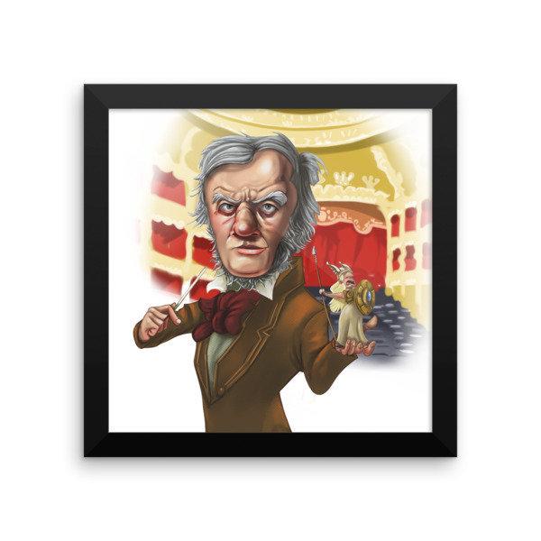 Richard Wagner Framed poster