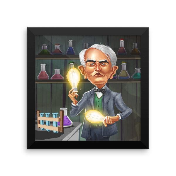 Thomas Edison Framed poster