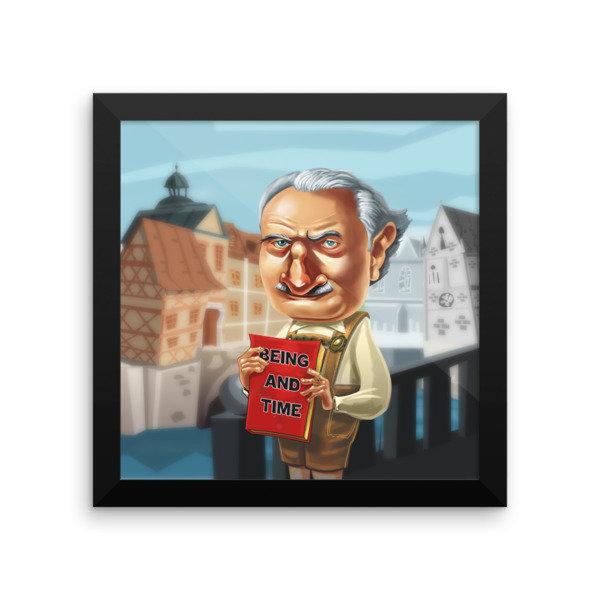Martin Heidegger Framed poster