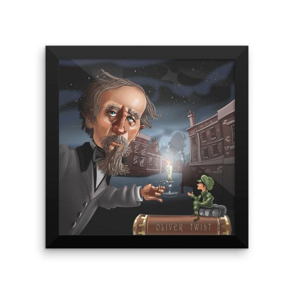 Charles Dickens Framed poster