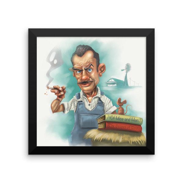John Steinbeck Framed poster