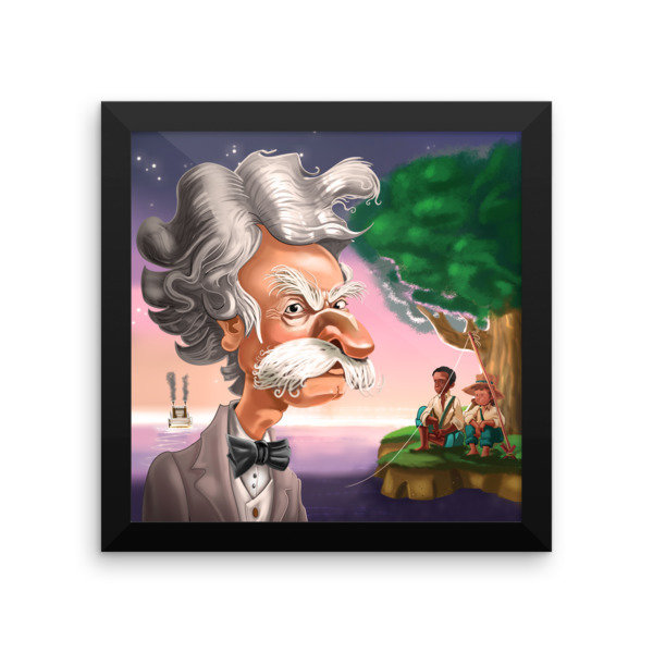 Mark Twain Framed poster