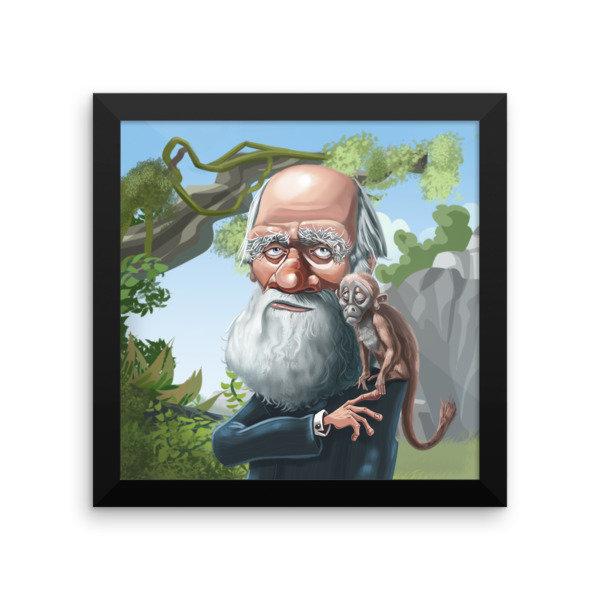 Charles Darwin Framed poster