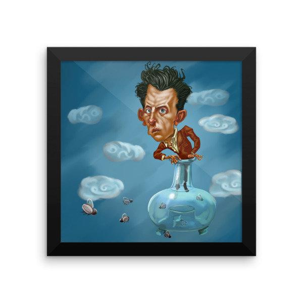 Ludwig Wittgenstein Framed poster