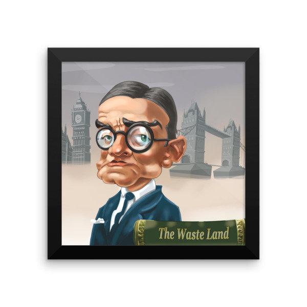 T.S. Eliot Framed poster