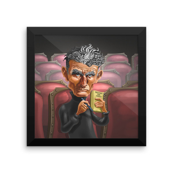 Samuel Beckett Framed poster