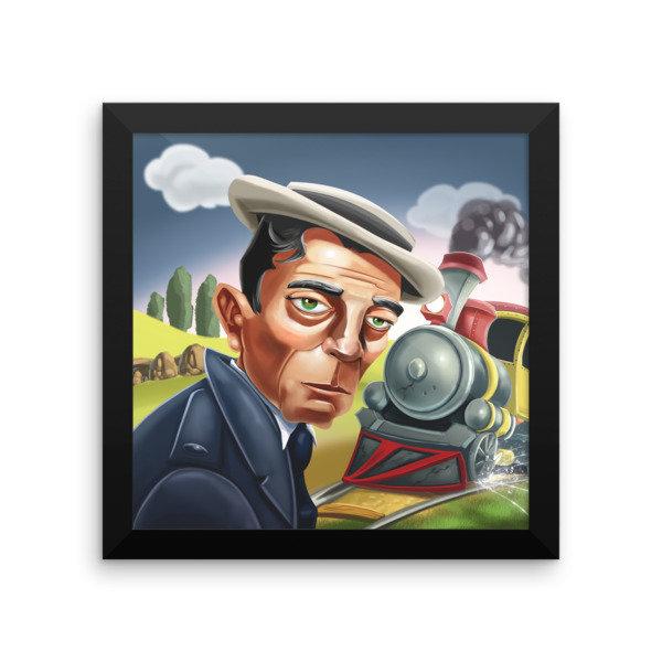 Buster Keaton Framed poster