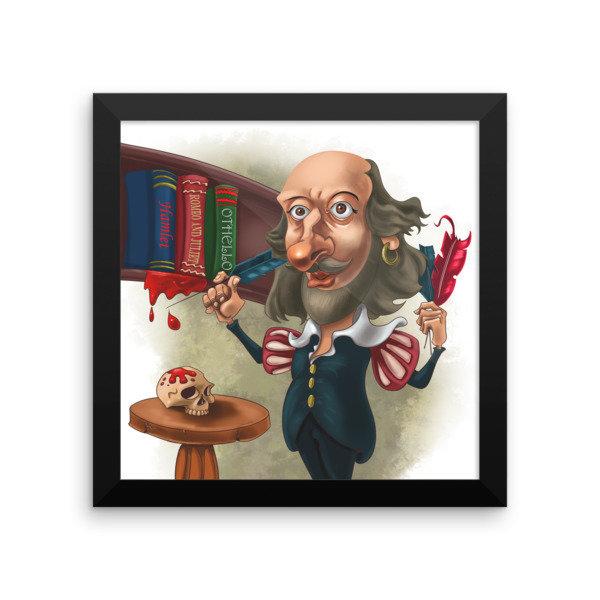 William Shakespeare Framed poster
