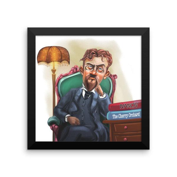 Anton Chekhov Framed poster