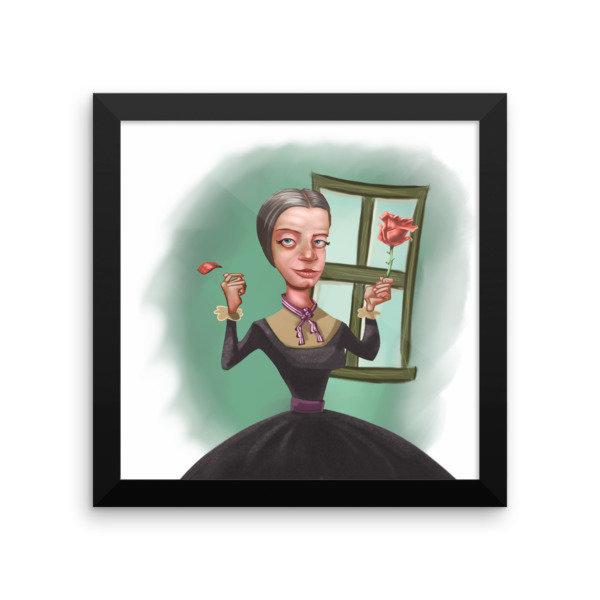 Emily Dickinson Framed poster