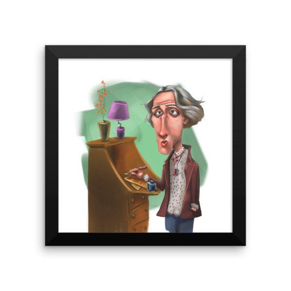 Virginia Woolf Framed poster