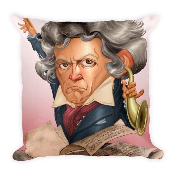 Ludwig van Beethoven Square Pillow