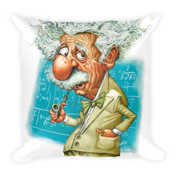 Albert Einstein Square Pillow