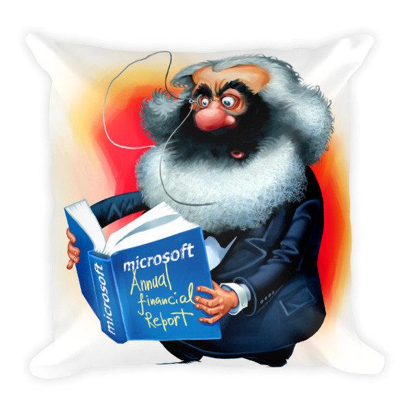 Karl Marx Square Pillow