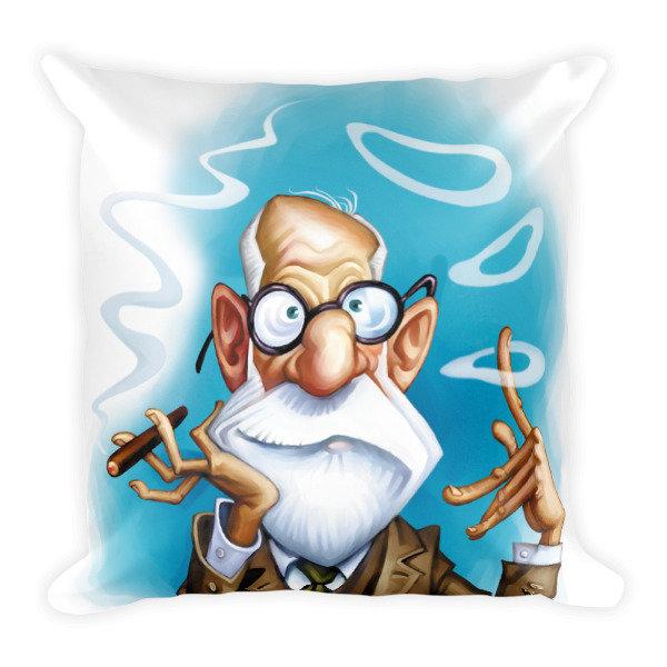 Sigmund Freud Square Pillow