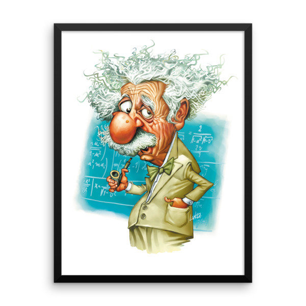 Albert Einstein Framed poster