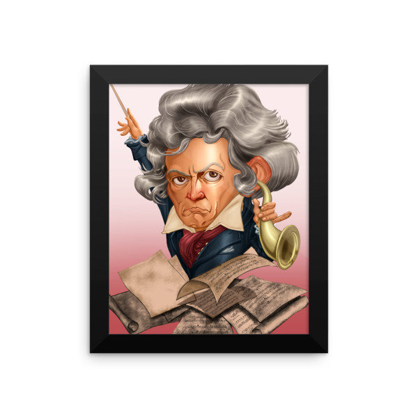 Ludwig van Beethoven Framed poster