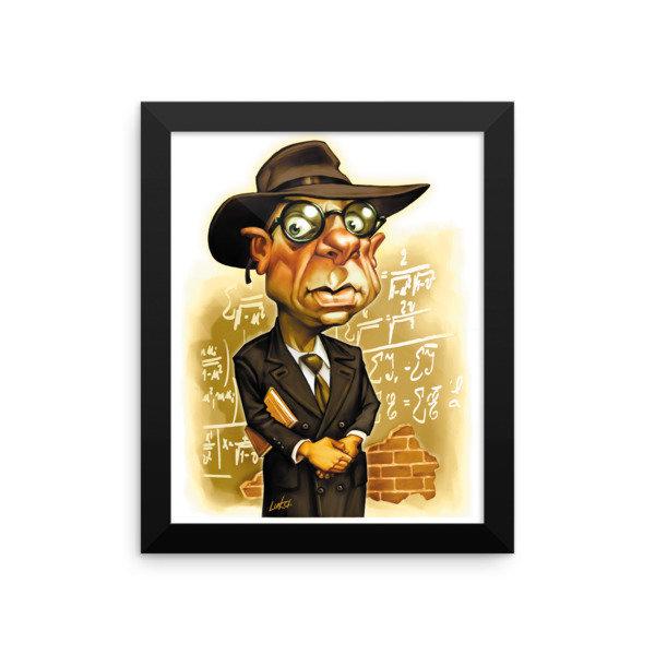 Kurt Gödel Framed poster