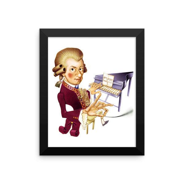 Wolfgang Amadeus Mozart Framed poster