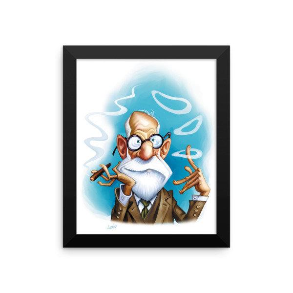 Sigmund Freud Framed poster
