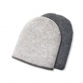 Reversible alpaca hat.  smoke
