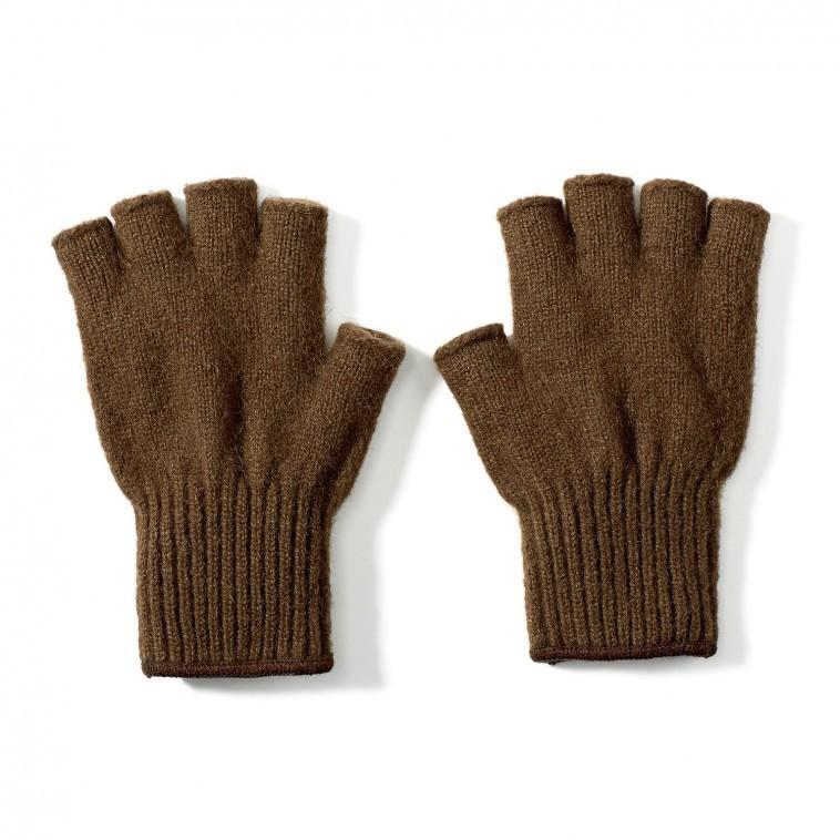 Bison Down Fingerless Glove