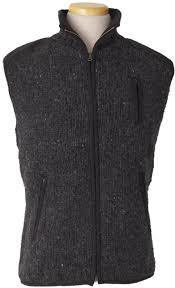 Laundromat. Mens Yale Vest Fleece Lined. Black Natural