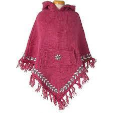 Laundromat fleece lined poncho Kids