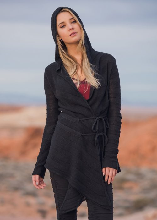 Nomads. Sanctuary Cardigan. Black