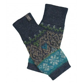 alpaca gloves. icelandic. azul